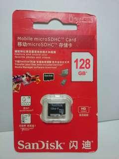 128GB Micro SD Card Sandisk Microsd Class 10