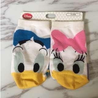 迪士尼 唐老鴨 跟 黛西 長襪