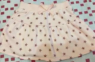 glitter star pink mini skirt