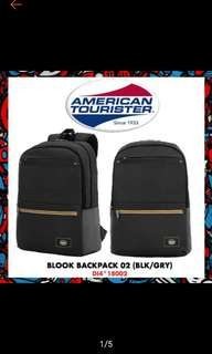 (Free 3-4days fast delivery) American Tourister Blook Backpack 02 (Black/Red)