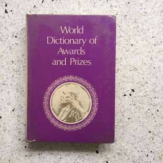 World Dictionary of Awards and  Prizes