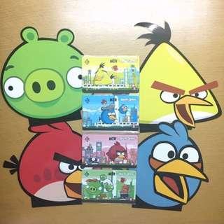 Angry bird 車票 連套摺