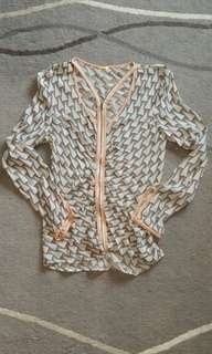 Rebeccaminkoff, silky jacket / top 99%New
