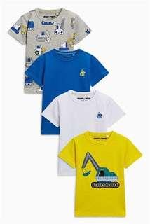 黃、藍、白、灰 Digger 4件