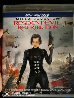 Blu-ray 3D Resident Evil : Retribution(ori)