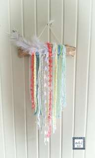 Wall Hanging with Feathers