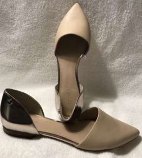 Calvin Klein Laura pointed leather Slip-on flats 8.5