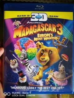 Blu-ray 3D Madagascar 3(ori)