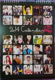 KPOP Idols 2014 Calendar Stand (Preloved)