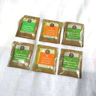 The Coffee Bean and Tea Leaf 6 teabags ( 2 Camomile + 4 English Breakfast)