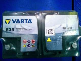 Car Battery-Varta DIN70 AGM Battery 70AH 760CCA                    要买就买有品质保证的货品👍                                                              Get quality goods👌                                                                               Cash and carry