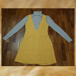 Overall dress Set free turtle neck