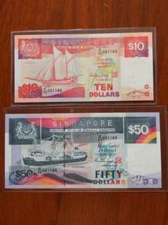 Ship $10 $50 fancy 8 Identical number pair