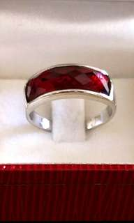 Red Agate Crystal Ring
