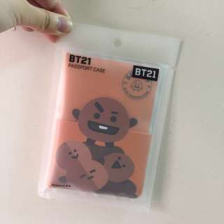 Line friends BT21 防彈少年團 護照套 Passport case 旅行 旅遊 上機 登機 禮物