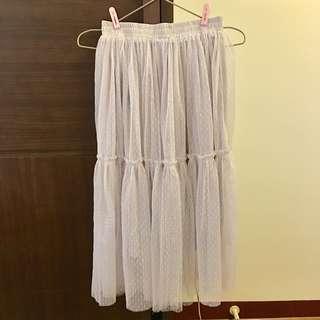 🚚 Yoco 仙氣灰色紗裙