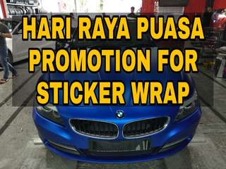 PROMOTION for Car Sticker Wrap