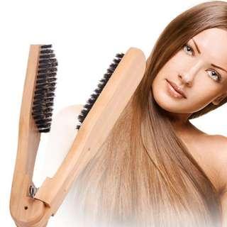 """Pre order"" Solid Wood Bristles Hair Comb"