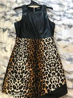 Bardot Leopard Leather Look Dress