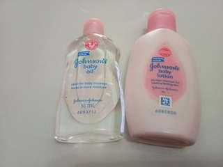Johnson's Baby Lotion & Baby Shampoo 50ml
