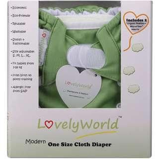 Lovely World Cloth Diaper  ( GREEN, PURPLE )