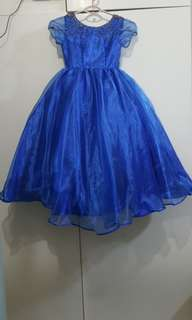 gown for kids (royal blue)