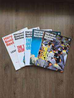 Harvard Business Review Magazine (5 Editions)