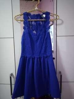 Dress blue bruckat