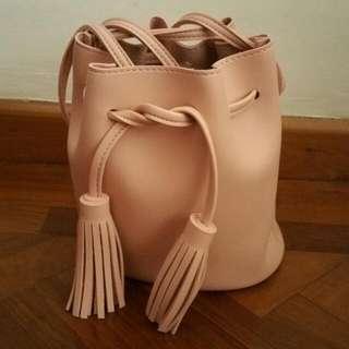 Tassel Bucket Bag (Pink)