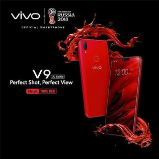 Vivo V9 red and blue, cash and credit erafone