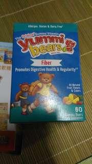 Yummi Bears小熊軟糖 - 天然益生元纖維, 60 粒小熊軟