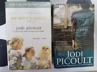 1) My Sister's Keeper. 2) Perfect Match. By Jodi Picoult