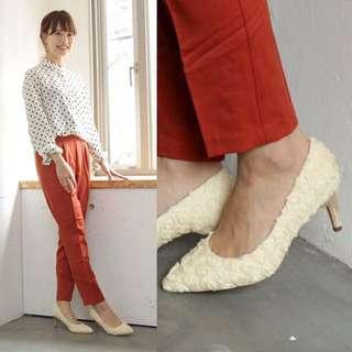 日本鞋M size 37碼花花高踭超舒服日本製造