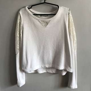 Just G white lace sweater