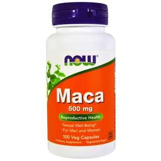 🚚 Now Foods MACA 500 mg - 100 Veggie Capsules. Made in USA.