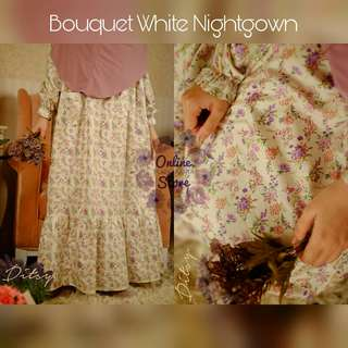 Ditsy Nightgown Bouquet White