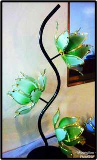 Flower 3-Way Table Lamp Green
