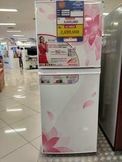 SHARP Kulkas 2 pintu bisa kredit tanpa kartu kredit Promo Tanpa Dp
