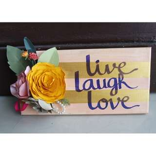 Canvas Quote - Live Laugh Love