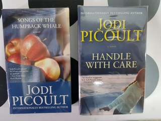 1) Songs of the Humpback Whale. 2) Handle with Care. By Jodi Picoult