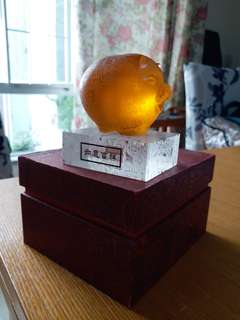 Crystal paper weight for desk ornament