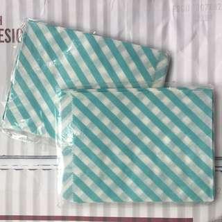 曲奇糖果包裝袋 Tiffany藍色間條