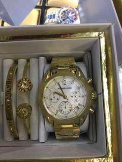 Michael Kors chronographic watch 3in1 set