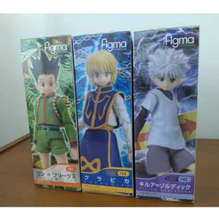 Figma Hunter X Hunter  Set Of 3 #182 Killua Zaoldyeck, # 194 Curarpikt, # 181 Gon Freecss