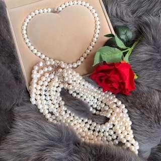 天然淡水珍珠項鍊(9-10mm)