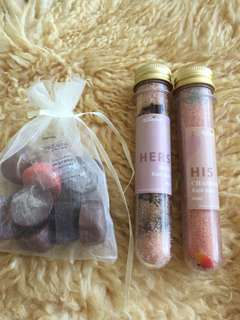 Wunderbath Rose Bath Salts & Chamomile Bath Salts and pack of lovely soap