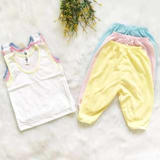 Sando Colored Edging & Pajama Colored (Set of 3)