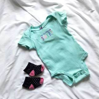 Carters onesie 3 months and socks