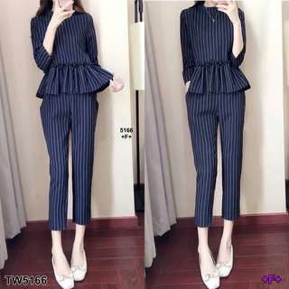 Set stripe top and pants shop to