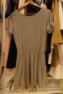 Grey Casual Dress & Grey Zara Knotted Long Top